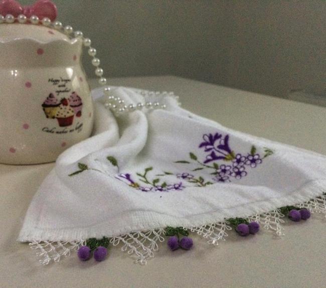 İğne oyası tomurcuk havlu kenarı danteli