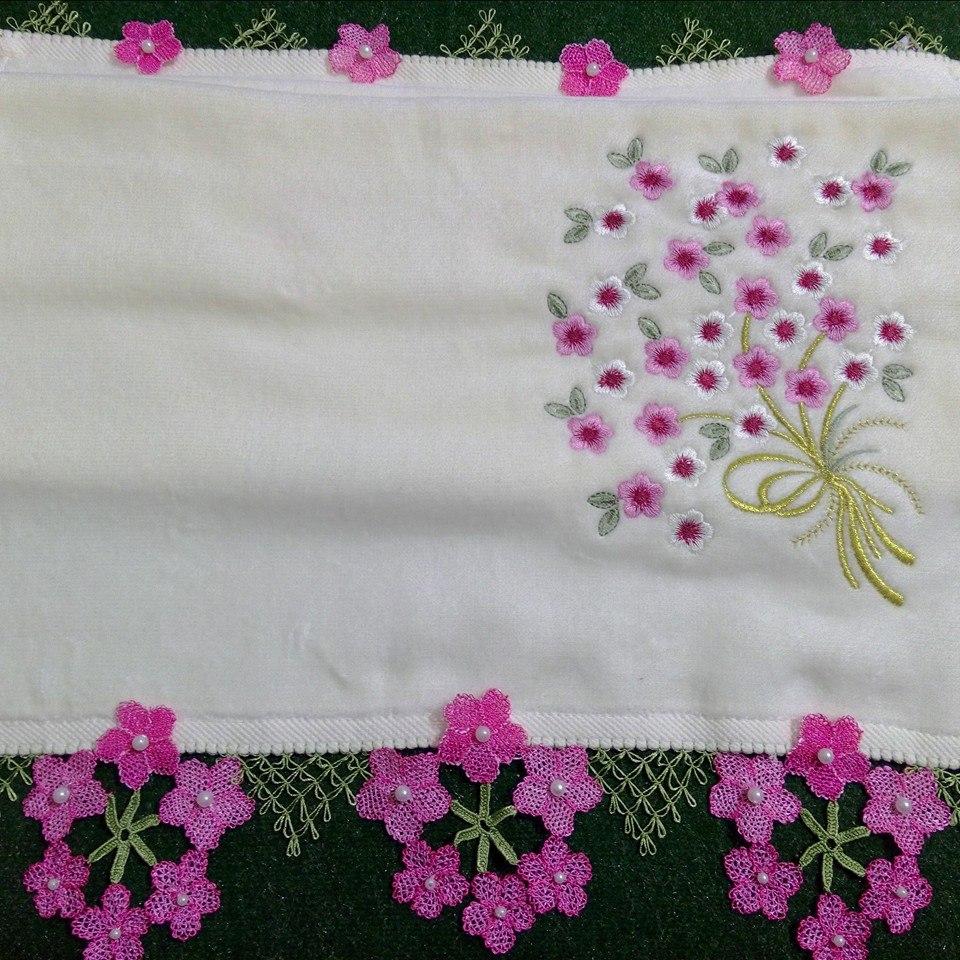 Çiçekli mutfak havlusu örneği