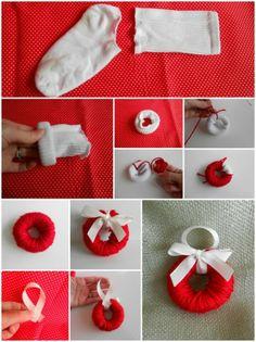 Eski Çoraptan Süs Yapımı