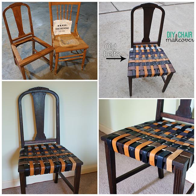 Eski Kemerlerle Sandalye Yenileme