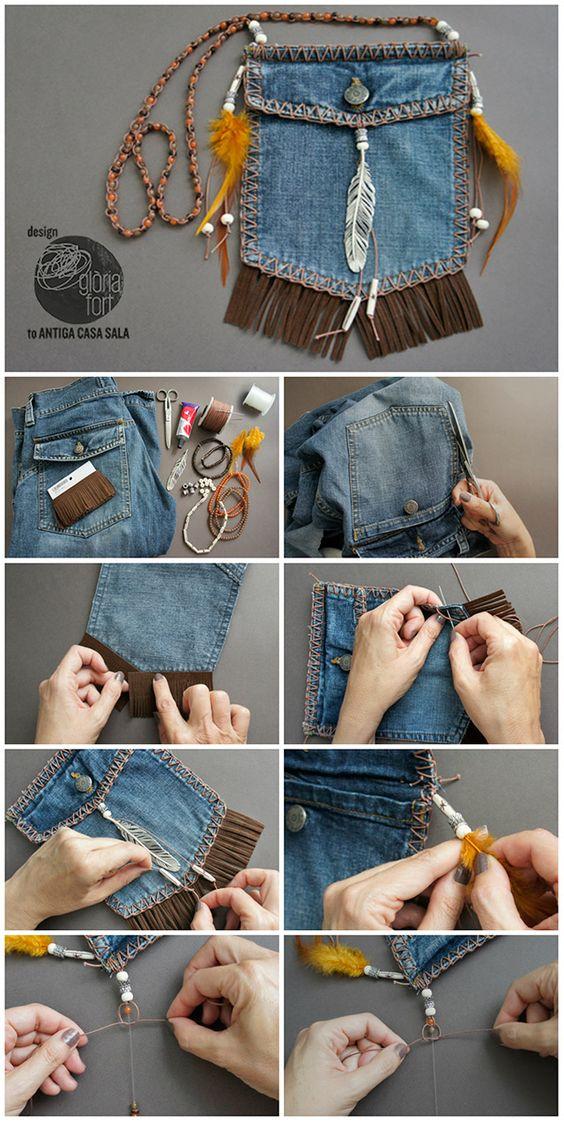 Eski Kot Ceplerinden Mini Çanta Yapımı