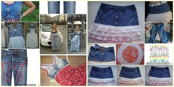 Eski Kot Pantolonlardan Kıyafet Yapımı