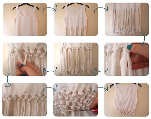 Eski Tişörtten Kısa Bluz Yapımı