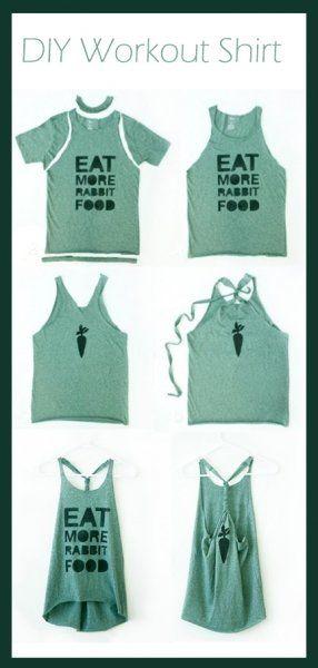 Eski Tişörtten Spor Tişörtu Yapımı