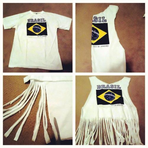 Eski Tişörtten Bluz Yapımı