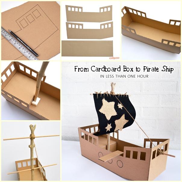 Kartondan Korsan Gemisi Yapımı