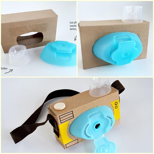Kartondan Oyuncak Fotoğraf Makinesi Yapımı