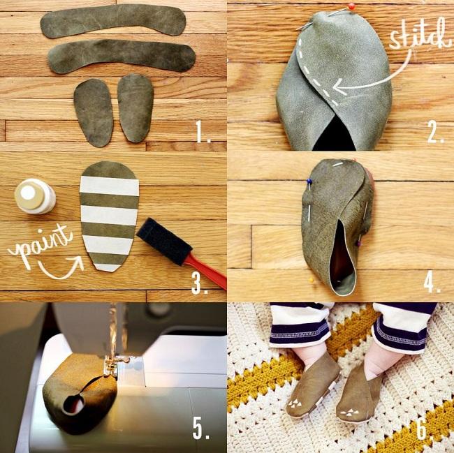 Keçeden Bebek Ayakkabısı Yapımı 2