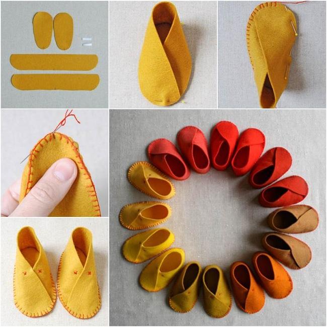 Keçeden Bebek Ayakkabısı Yapımı