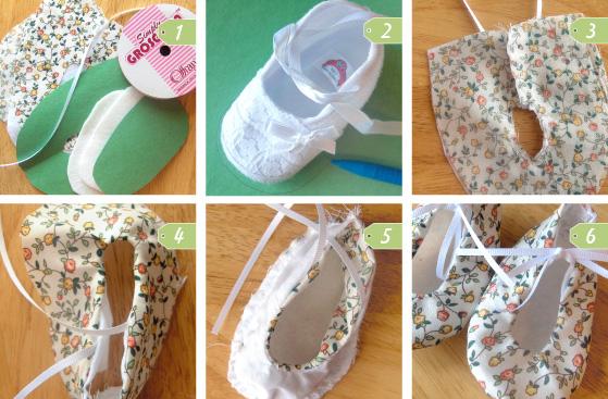 Kumaş Kız Bebek Ayakkabısı Yapımı