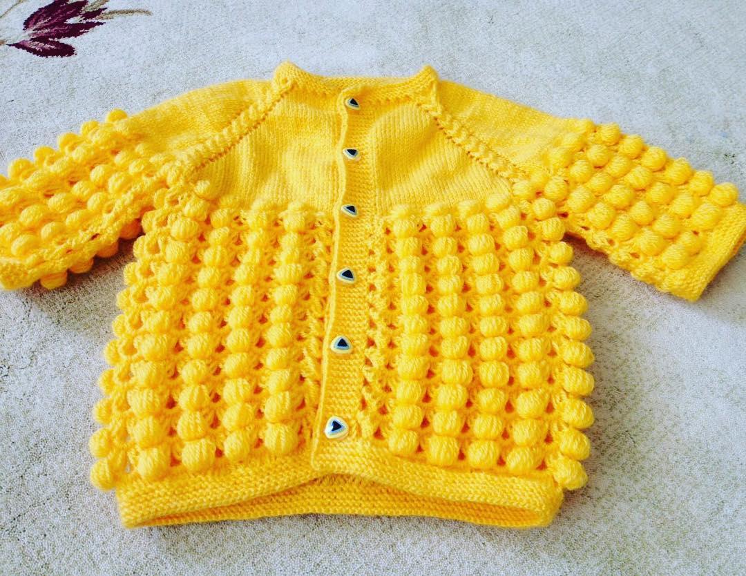 Örgü sarı yelek