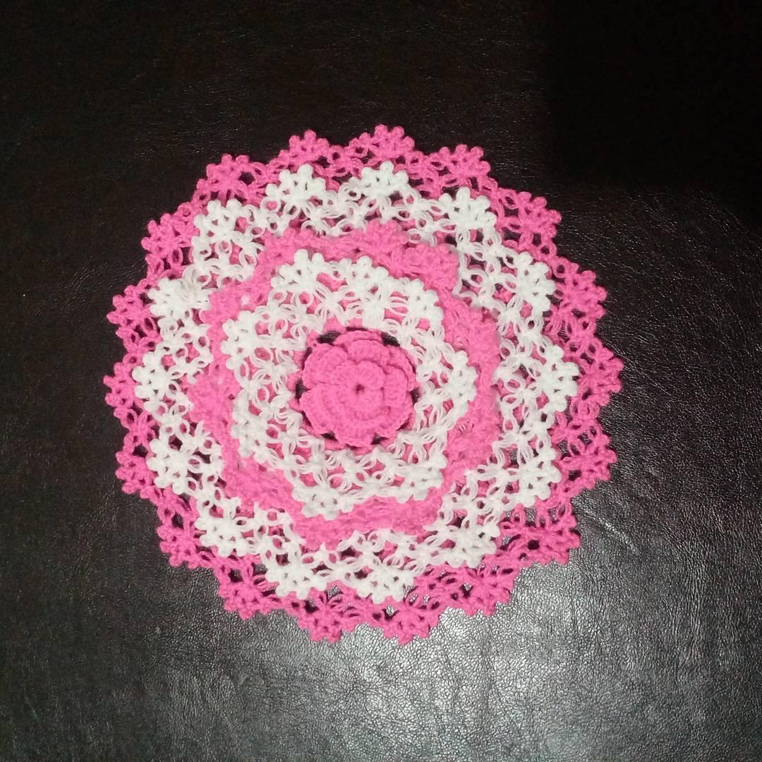 Ortası çiçekli pembe lif modeli