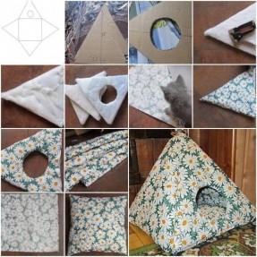 Piramit Kedi Evi Yapımı