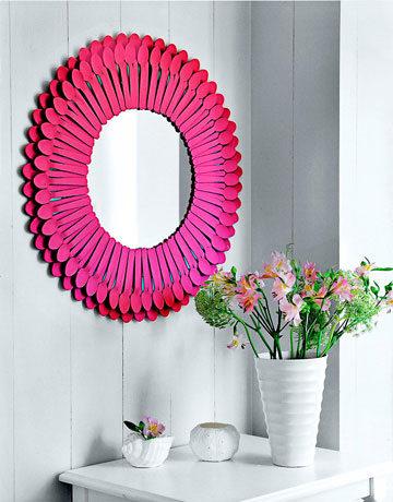 Plastik Kaşıklardan Ayna Çerçevesi Yapımı 2