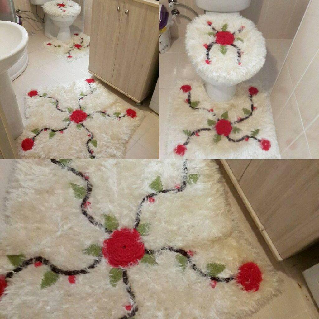 Sakallı ipten yapılan banyo klozet takımı