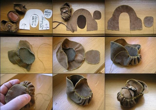 Süet Erkek Bebek Ayakkabısı Yapımı