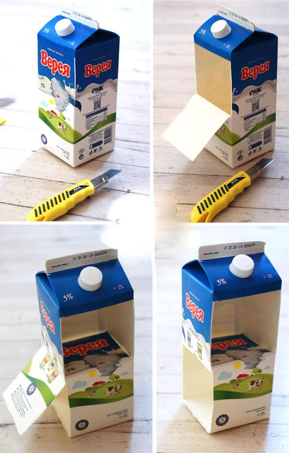 Süt Kartonundan Oyuncak Ev Yapımı