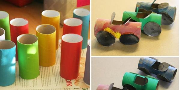 Tuvalet Kağıdı Rulolarıyla Çocuk Oyuncakları Yapımı 4