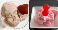 Evde Çilekli ve Vişneli Dondurma Yapılışı