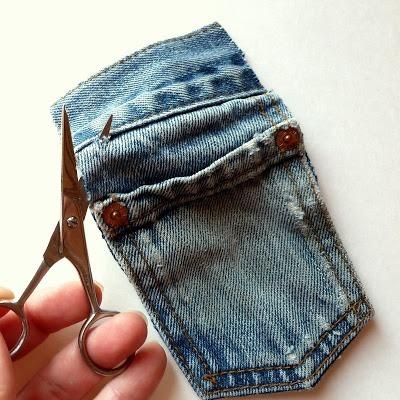 Kot Pantolondan Mini Çanta Yapımı 4