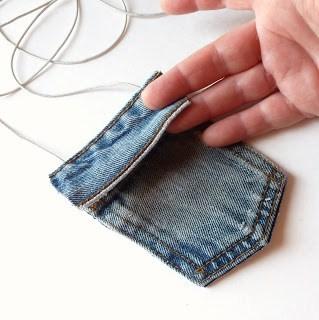 Kot Pantolondan Mini Çanta Yapımı 7
