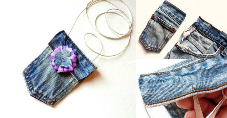 Kot Pantolondan Mini Çanta Yapımı