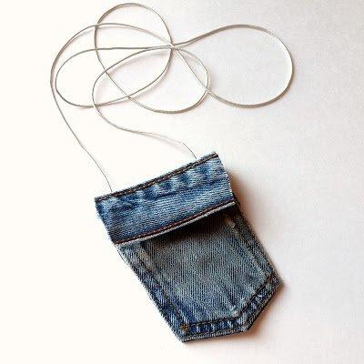 Kot Pantolondan Mini Çanta Yapımı 8