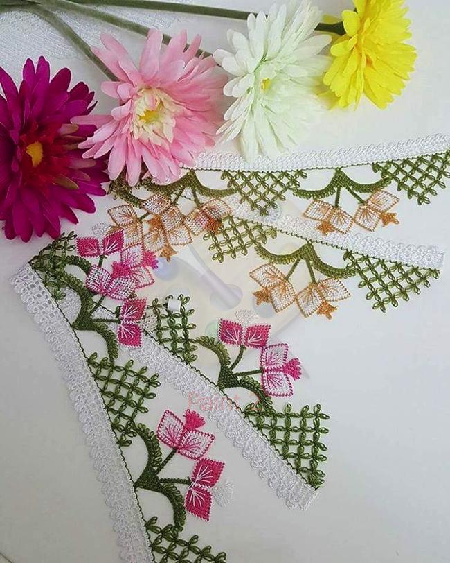 Yeni havlu kenarı dantel örneği