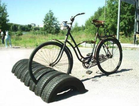 Araba Lastiğinden Bisiklet Durağı Yapımı