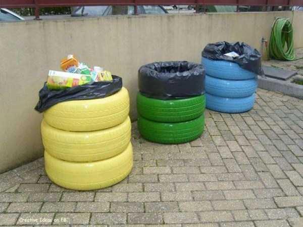 Araba Lastiğinden Çöp Konteynırı Yapımı