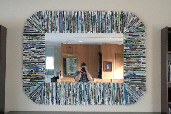 Gazete ve Dergi Kağıtlarından Ayna Kenarı Yapımı