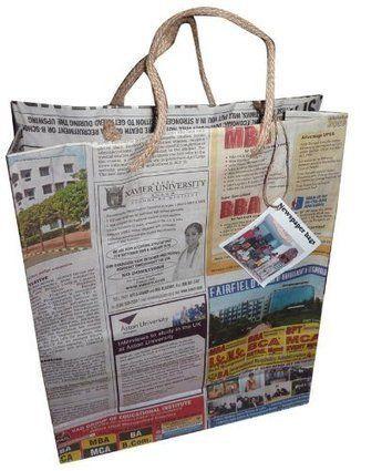 Gazete ve Dergi Kağıtlarından Çanta Yapımı