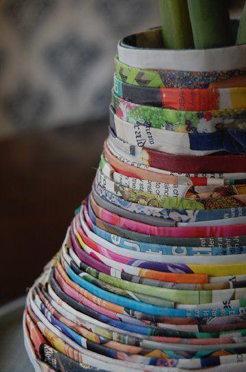Gazete ve Dergi Kağıtlarından Vazo Yapımı