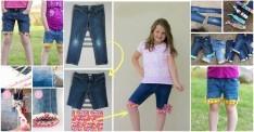 Kot Pantolonunuzu Şık Bir Şorta Dönüştürün