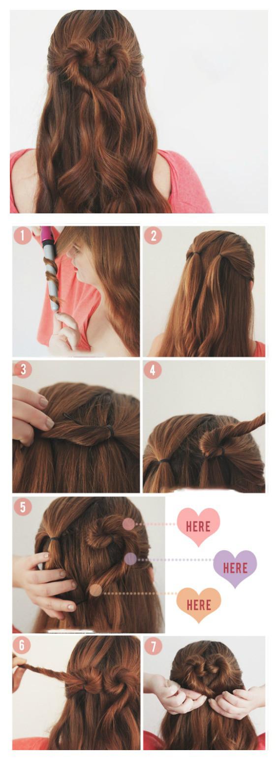 Örgülü ve Kalpli Saç Modelleri 4