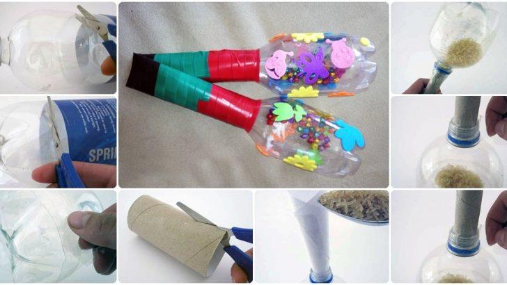 Pet şişeden Eğlenceli Marakas Yapımı Hobiler
