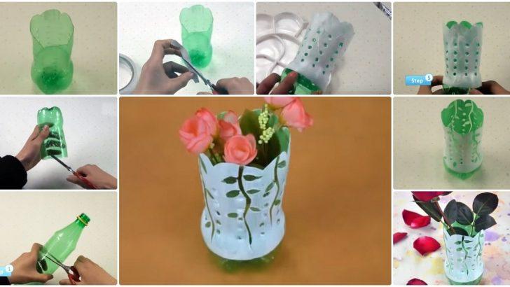 Pet Şişeden Kolay Vazo Yapımı