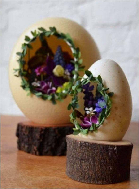 Yumurta Kabuklarından Çiçekli Süs Yapımı
