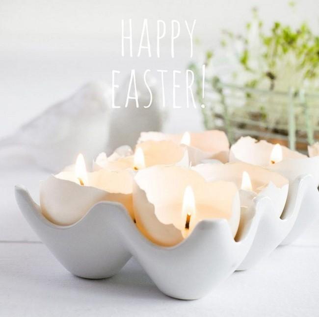 Yumurta Kabuklarından Mum Kabı Yapımı