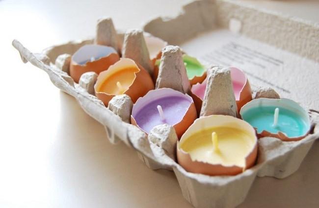 Yumurta Kabuklarından Mumluk Yapımı