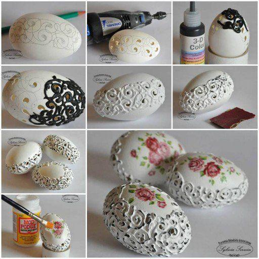 Yumurta Kabuklarından İşlemeli Süs Yapımı