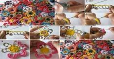 Açma Halkalarından Çiçek Yapımı