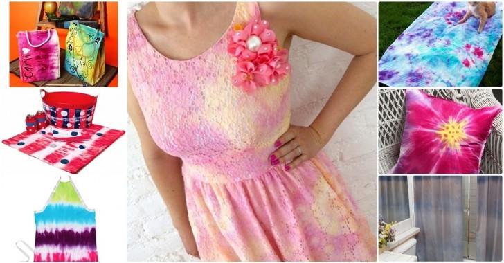 10 Adet Tie Dye Yöntemi ile Süsleme Fikirleri