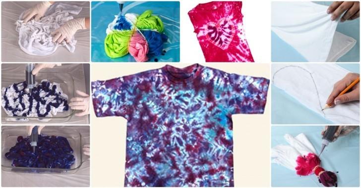 6 Adet Farklı Tie Dye Tişört Modeli