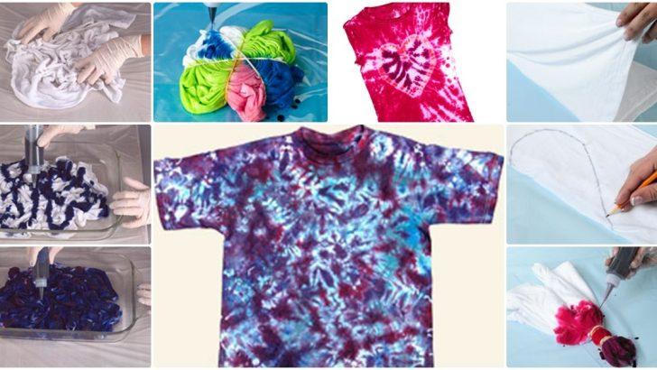 6 Adet Farklı Tie Dye Tişört Modeli Hobiler
