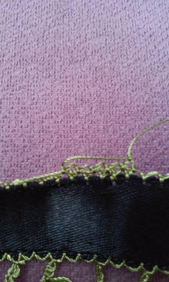 Çiçekli havlu kenarı oyası yapılışı 2