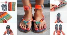 Eşarpla Yapabileceğiniz Şık Bir Sandalet Tasarımı