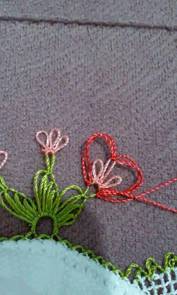 Kalpli havlu kenarı yapılışı 10