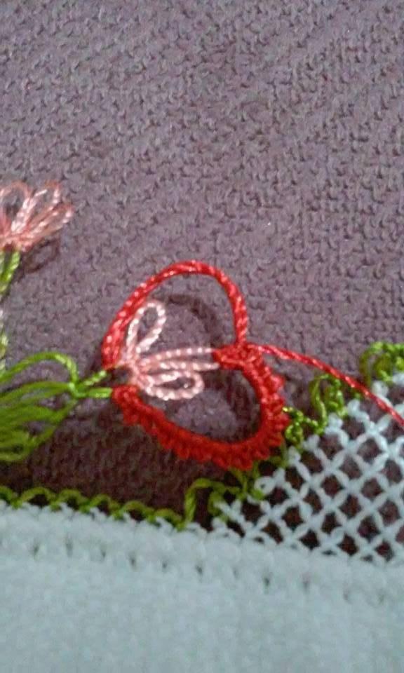 Kalpli havlu kenarı yapılışı 12