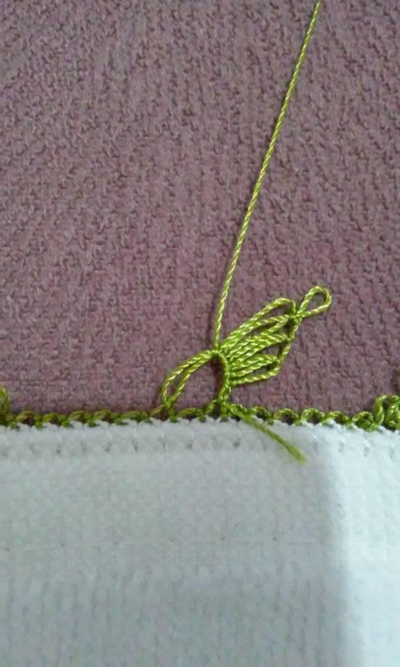 Kalpli havlu kenarı yapılışı 4